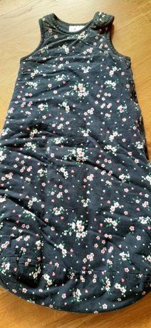 Śpiworek niemowlęcy H&M 50-56 0-2M kwiaty