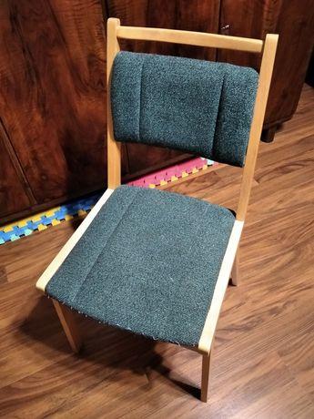 2 krzesła tapicerowane drewniane do renowacji