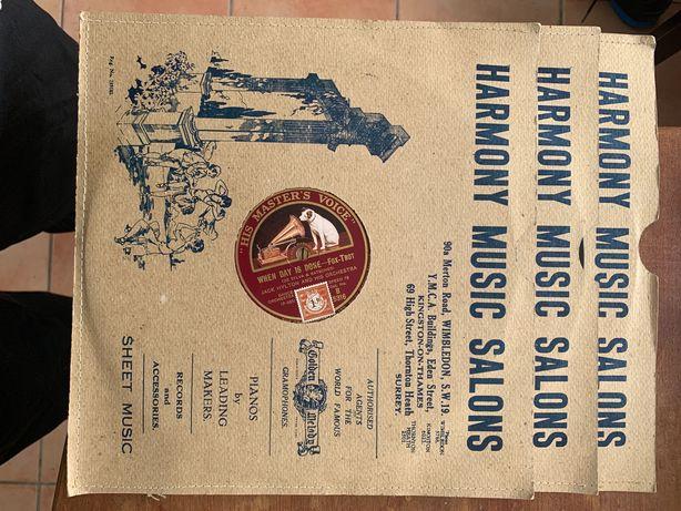 Conjunto de vários discos para gramofone