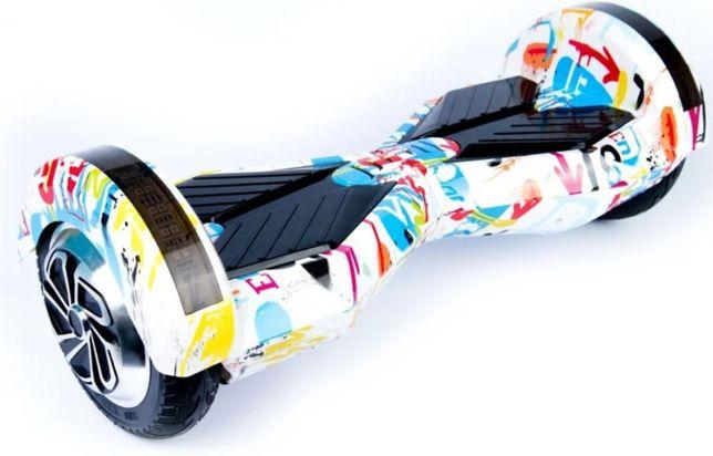 Гіроборд 8д Hoverbot гіроскутер Колір Білий граффіті.Самовивоз Львів