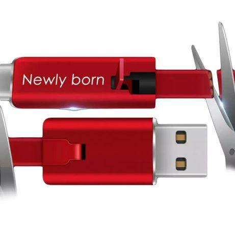 Обрезной двухсторонний микро USB TYPE C кабель для зарядки