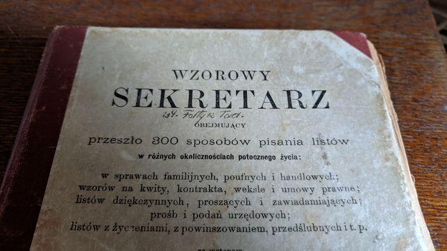 Książka Wzorowy Sekretarz 1897 Lwów antyk