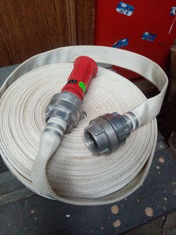 Wąż parciany strażacki 25mm z prądnicą