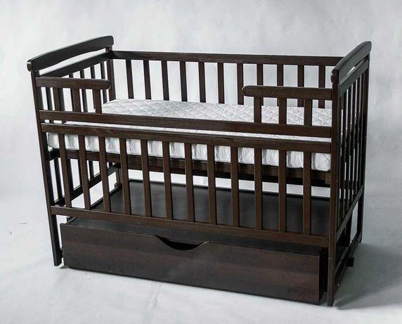 Детская кровать Deson Transformer маятник и шухляда Шоколад