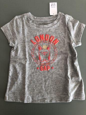 Bluzka bluzeczka dziewczęca t-shirt GAP  18-24 msc rozmiar 86-92 NOWA