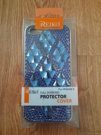 Etui Apple IPhone 5/5s/5c diamentowy niebieski pokrowiec na telefon