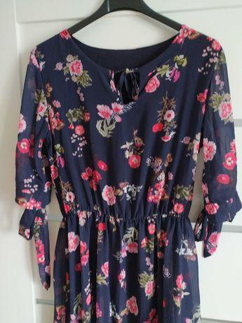Szyfonowa Sukienka w kwiaty rozmiar uniwersalny