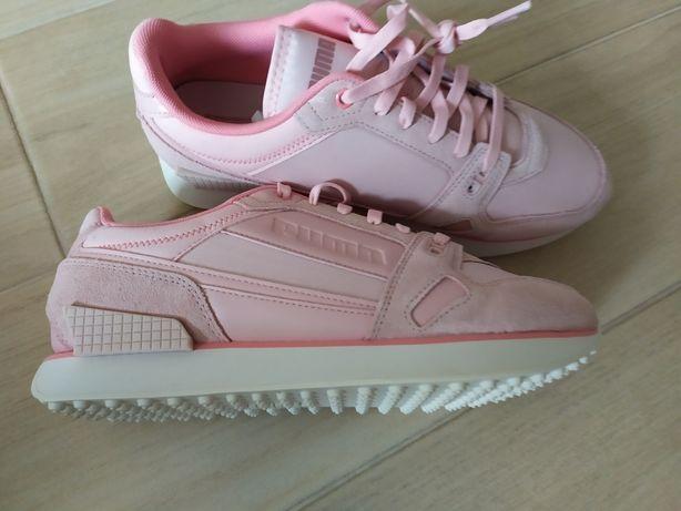 Кросовки Puma Mile rider chrome desert womens рожеві 26см нові