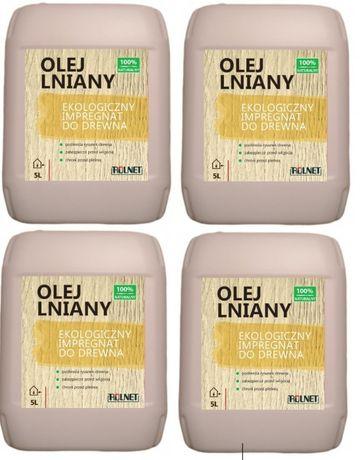 Olej lniany impregnat do drewna 20 l -100% naturalny