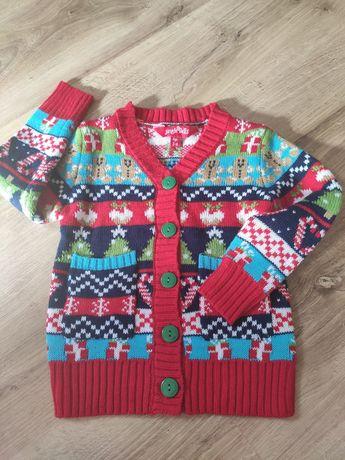 Piękny rozpinany sweterek świąteczny