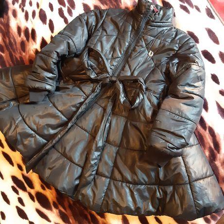 Пальто стеганное утепленное, натуральньій мех