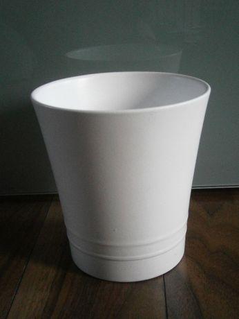 Ceramiczna doniczka scheurich biała wysoka