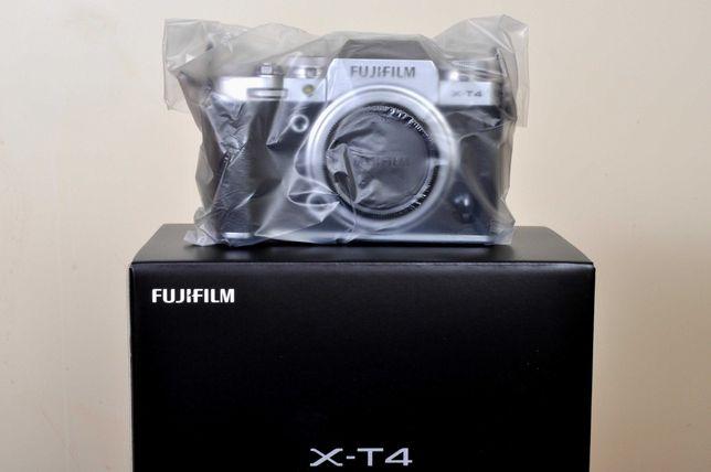 Fuji X-T4 Silver. Novo, fatura/nif, garantia nacional 2 anos.