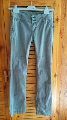 Szare spodnie damskie - rozmiar 38