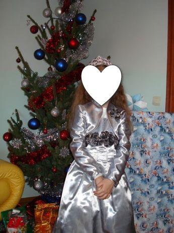 Срібне Плаття-сарафан нарядне з болеро для дівчинки 6-8 років