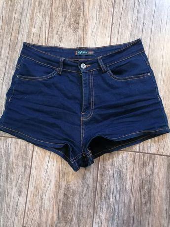 Spodenki jeansowe high Waist