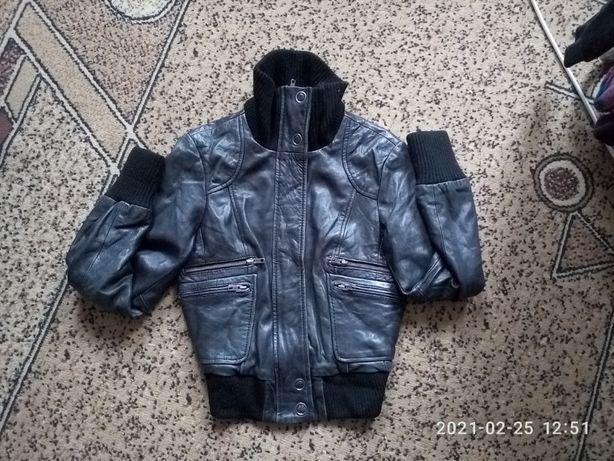 куртка курточка деми натуральная кожа Oasis xs