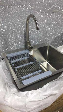 Знижки! Кухонна мийка нержавійка KRAFT 5448 Мойка + корзина