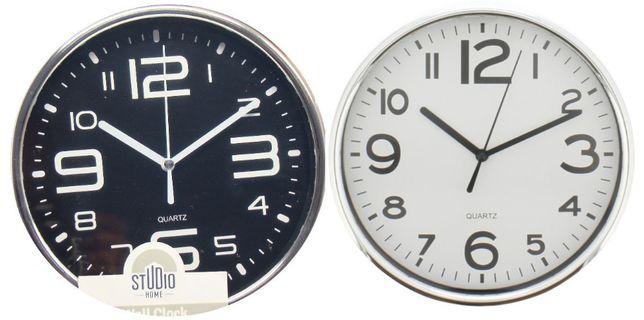 Wall clock studio home white zegar ścienny 19,5 cm