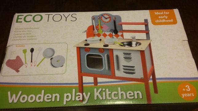 Kuchnia dla dzieci z wyposażeniem drewniana EcoToys