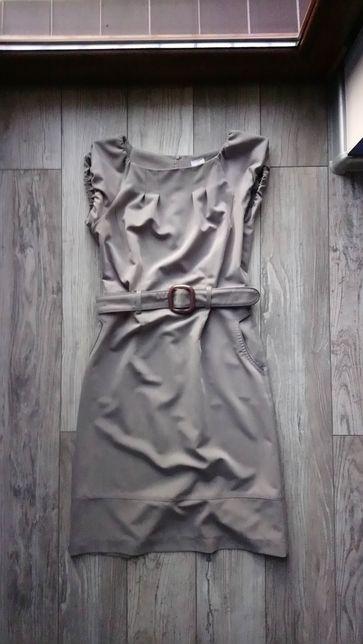 Sukienka szara , na codzień , dopasowana