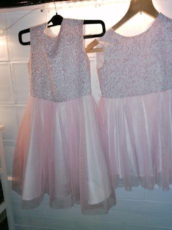 Sukienki dla sióstr. 146 i 122. Wesele, przyjęciny