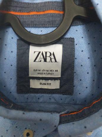 Koszula niebieska Zara slim fit rozm. M