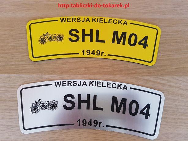 SHL M04 Tablice na przedni błotnik do starych zabytkowych motocykli