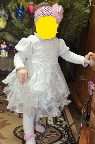 Шикарное нарядное белое платье от 3 мес, 6 мес, 9 мес, 1 год, годик