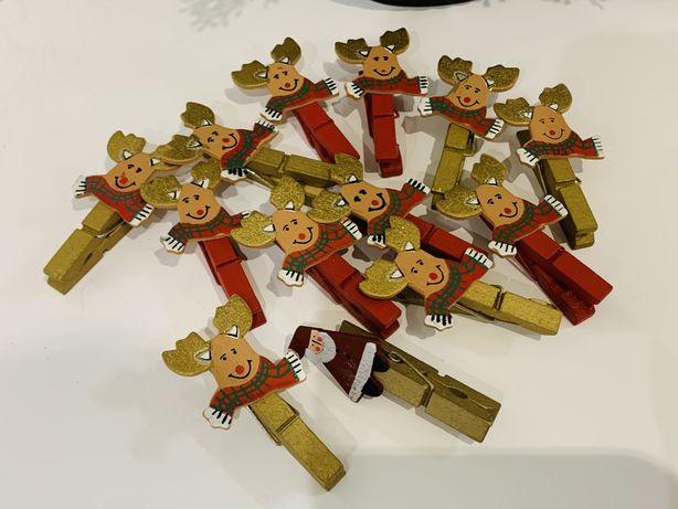 Деревянные новогодние рождественские прищепки, Англия