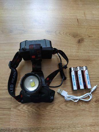 Мощный Налобный фонарь Police тактический фонарик для охоты и рыбалки