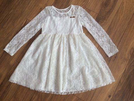 Sukienka koronkowa ecru 134