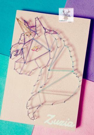 Jednorozec / String Art pokoj dzieciecy