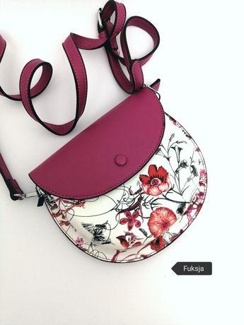 Torebka listonoszka w modne kwiatowe wzory 5 kolorów