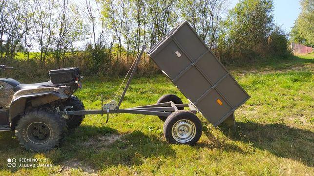 Przyczepka do quada, do traktorka wywrotka na wciągarkę