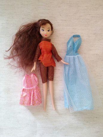 Лялька 22см + 2 сукні.