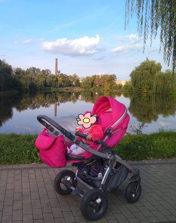 Wózek 2 w 1 gondola ,spacerówka ,Tako extreme ,różowy