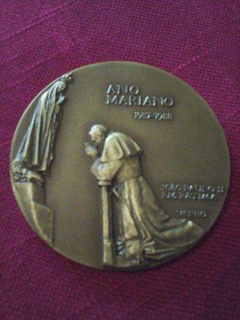 Medalha Ano Mariano (88)- João Paulo ll, N/Sra. Fátima, & Conceição