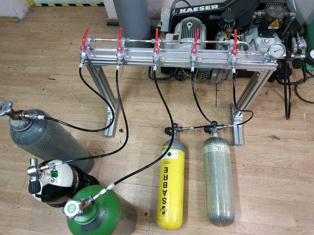 Rozdzielacz spreżarki 300BAR do butli nurkowych PCP