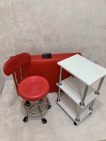АКЦИЯ! Набор кушетка +тележка + стул
