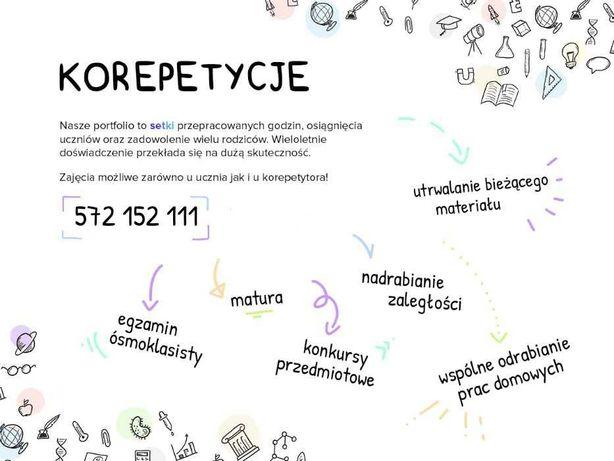 Korepetycje Biologia Chemia Matematyka Fizyka matura egzamin ósmokl.