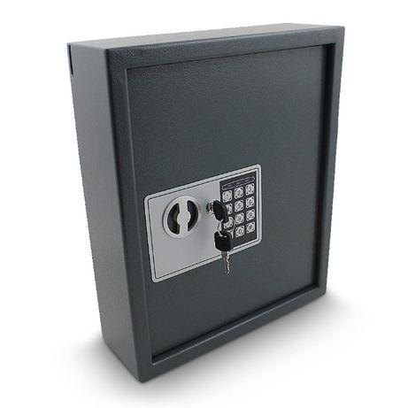 Sejf na Ważne Klucze Elektroniczny Zamykany na Kod i Klucz Grafitowy