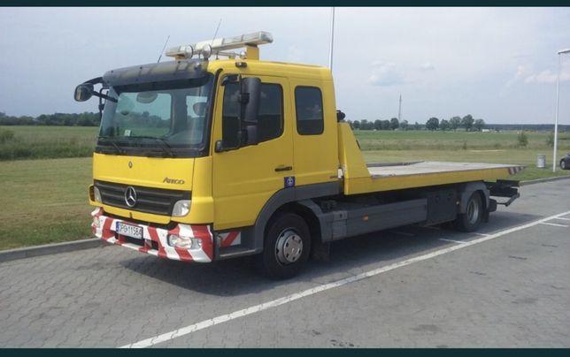Pomoc drogowa autolaweta laweta A4 transport brzeg