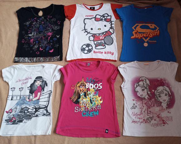 Duży zestaw bluzek dziewczęcych