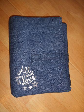 przewijak podróżny jeans bawełniany lupilu nowy nieużywany