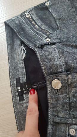 Spodnie H&M rozm. 38 jeans srebrne