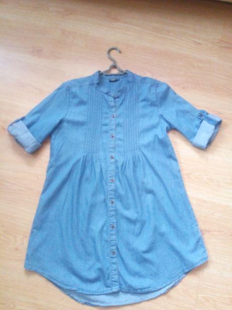 Bluzka tunika dżinsowa L