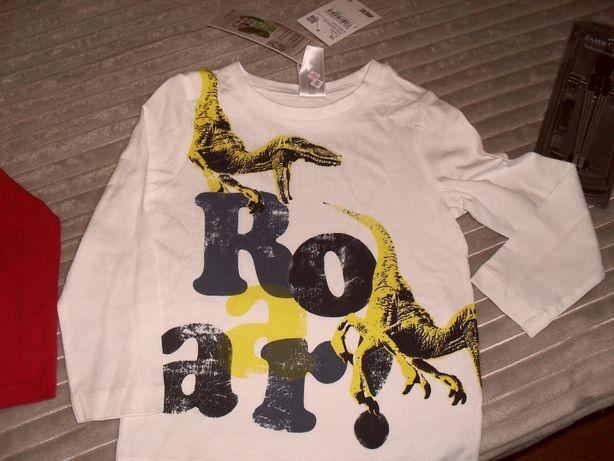 bluzka dla dziecka nowa 98 cm z dinozaurami