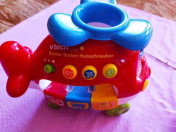 DUZY zestaw zabawek Fisher Price ,Vtech,helikopter, telefon, gasienica