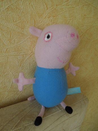Игрушка мягкая Джордж младший брат Свинки Пеппы.